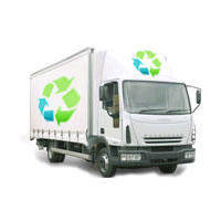 enlightened lamp recycling - lamp collection - 7.5 ton lorry